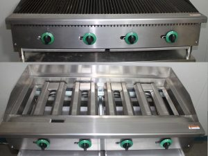 Infernus American Style Gas Char Broiler 4 Burner Char Grill Catering 1210mm