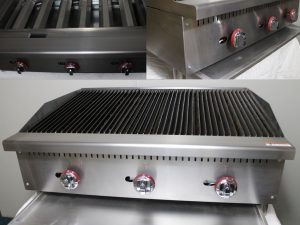 Infernus American Style Gas Char Broiler 3 Burner Char Grill Catering 914mm