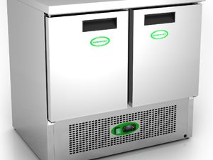 Genfrost G901SS - 2 Door Undercounter Fridge