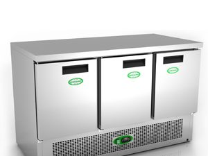 Genfrost G903SS - 3 Door Fridge Counter