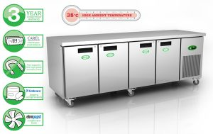 Genfrost GEN4100H - 4 Door GN Chiller Counter