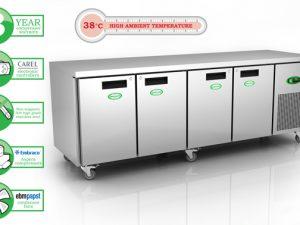 Genfrost GEN4100H - 4 Door GN Chiller Counter