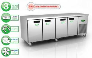 Genfrost GEN4100L - 4 Door GN Freezer Counter