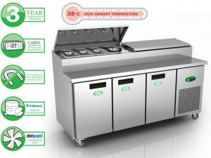 Genfrost GPR3700 - 3 Door Prep Counter