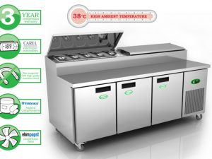 Genfrost GPR3800 - 3 Door Prep Counter