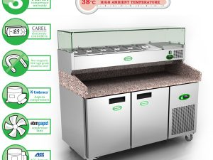 Genfrost GPZ2600 - 2 Door Pizza Prep Counter
