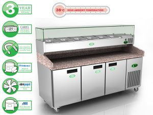 Genfrost GPZ3600 - 3 Door Pizza Prep Counter