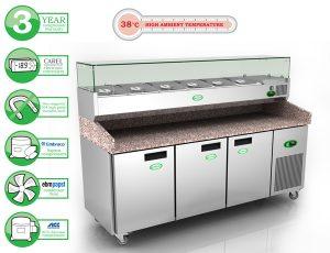 Genfrost GPZ3600 - 3 Door Pizza Prep Counter