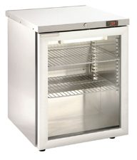 Foster HR150G Glass Door SS Refrigerator