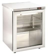 Foster HR150G Glass Door SS Refrigerator
