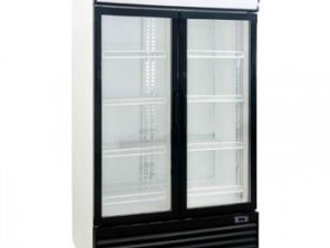 Norpe - Kool UF800ALS Double Sliding Door Upright Display Fridge