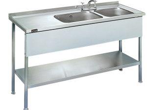 Lincat 1000mm long Sink Unit (Single Bowl - L/ Hand Drainer)