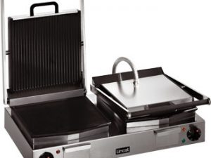 Lincat LPG2 Twin Contact Grill- Ribbed Upper & Lower (Electric