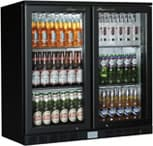 Kool Double Bottle Cooler Black Finish (Sliding Doors)