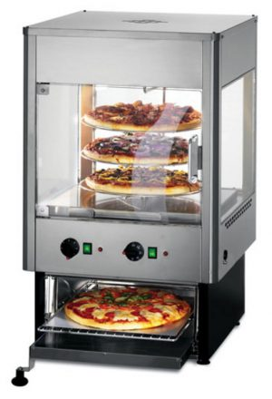 Lincat UMO50 Upright Heated Merchandiser with Oven with rotati