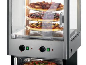 Lincat UMO50D 2 Door Heated Merchandiser with Oven with rotat