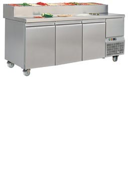 MerCatus - S1 - 1470 mm Pizza Prep. Counter + Topping Shelf
