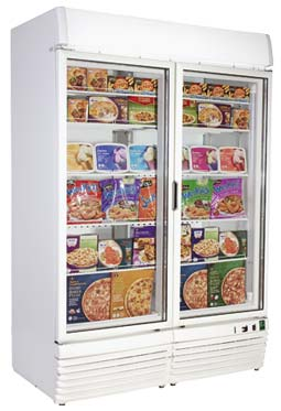Framec - EXPO1100NV Double Glass Door Upright Freezer