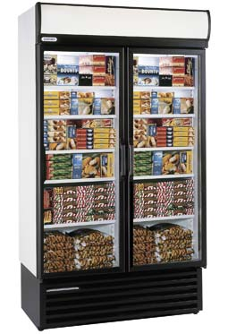 Staycold - HD1140 Double Glass Door Upright Freezer