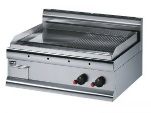Lincat GS7/R/N Silverlink 600 Steel Half Ribbed Natural Gas Griddle